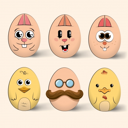 Easter egg characters Illustration
