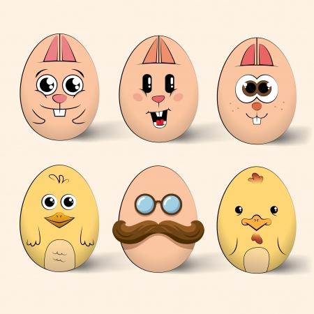 Easter egg characters Illustration