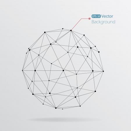 Fondo geométrico con líneas negras Ilustración de vector