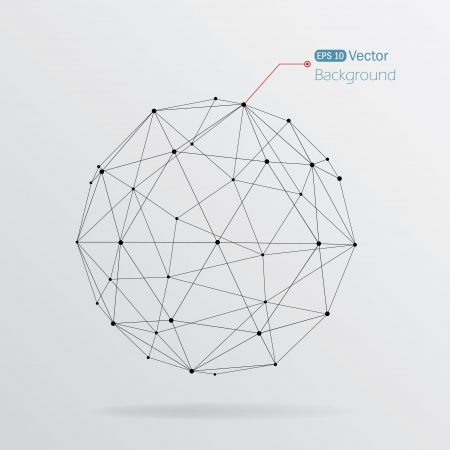 esfera: Fundo geom�trico com linhas pretas