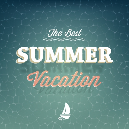 The best summer vacation typography background