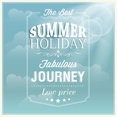 The best summer holiday typography card design Illustration