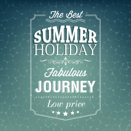 The best summer holiday typography background  Vector illustration Illustration