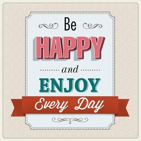 Seien Sie glücklich Grußkartenentwurf