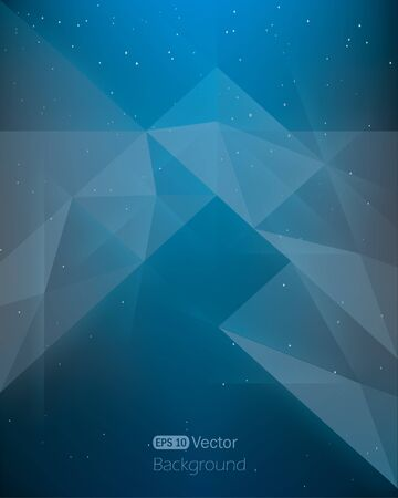 Abstract dark blue background diamond style in space