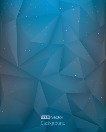 Abstract dark blue triangle in space background