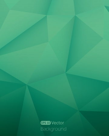 Abstract green triangle background  Illustration