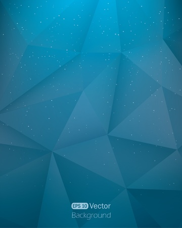Abstract dark blue triangle in space  background Vector illustration