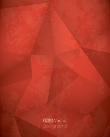 red cube: Abstract red triangle background Vector illustration Illustration