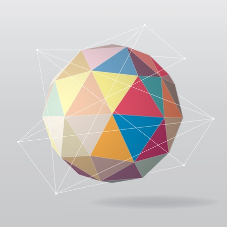 Colorful globe geometrical background  Vector illustration Vector