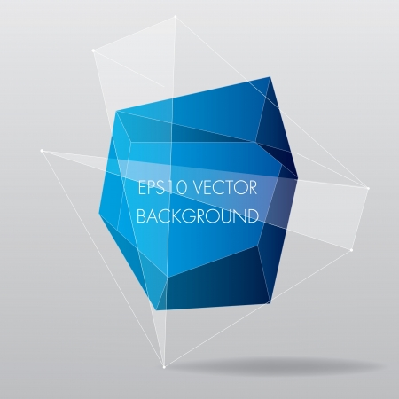 Blue geometric modern background with lines  Vector illustration