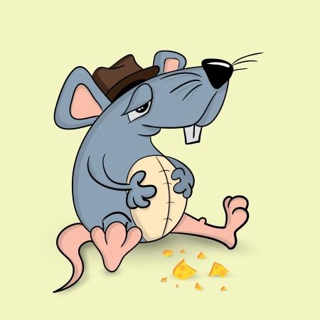 nice food: Симпатичные символ иллюстрации мыши