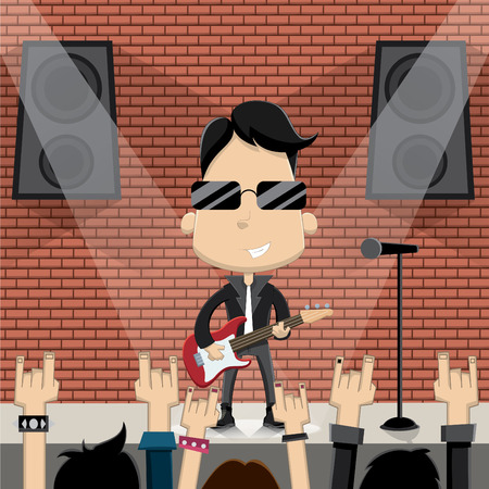 rock star: Rock star guy character