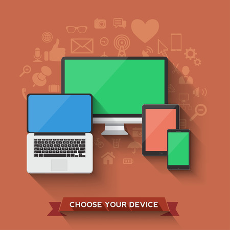 Choose your favorite device icon  Vector illustration