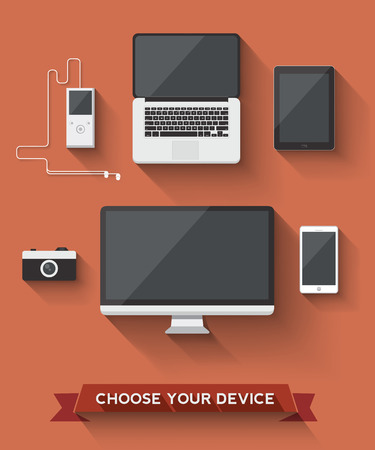 electronic devices: Various device icon