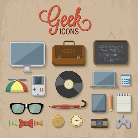 Geek accessories illustration