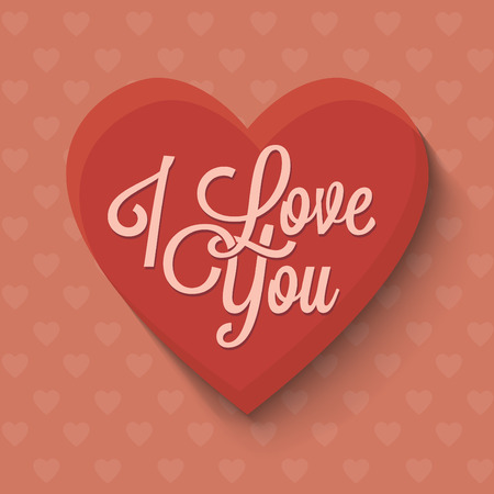 I love you valentines day greeting card
