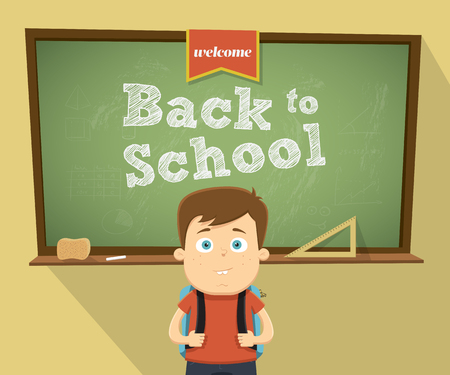 Welcome back to school character design. Vector illustration