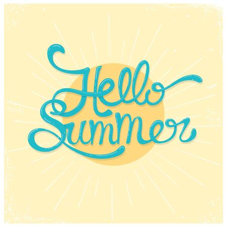 Summer greeting card design. Vector typography
