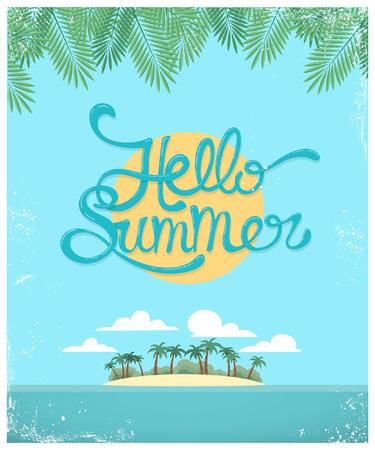 Vector summer greeting card 向量圖像
