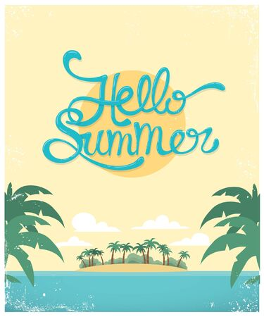Vector summer greeting card design