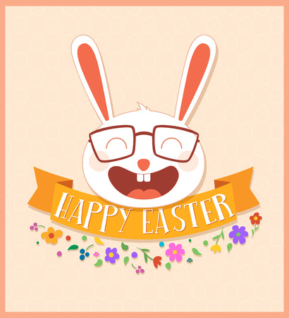 Happy Easter illustration. Vector greeting card design