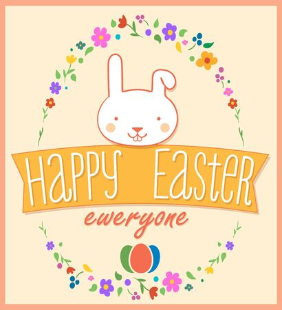 Easter greeting card design Illustration