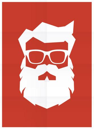 Santa Claus poster retro silhouette
