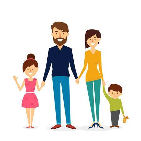 아름 다운 가족 디자인입니다. 벡터 일러스트 레이션