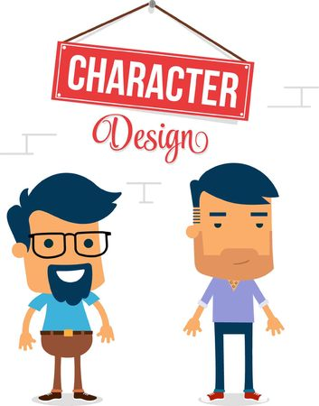 Two Man Vector Character Design