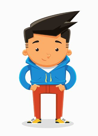Boy character design. Vector illustration Illustration