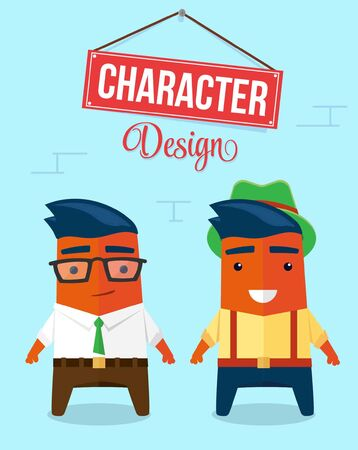 Funny Character Design. Quality Vector Illustration