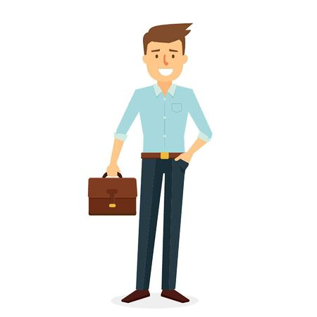 Business Man Character Design. Vector Illustration