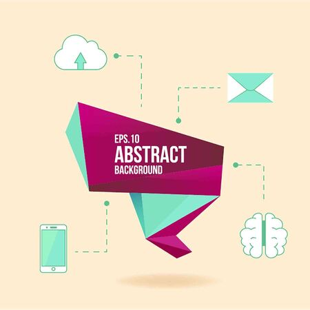 Abstract Vector Design Element With Icons