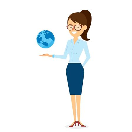 woman vector: Woman with Business Solution Character Design. Vector Illustration Illustration