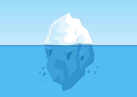 Melting Iceberg Design. Vector Illustration Illustration