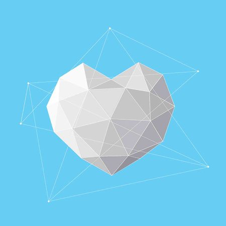 White Heart geometrical background