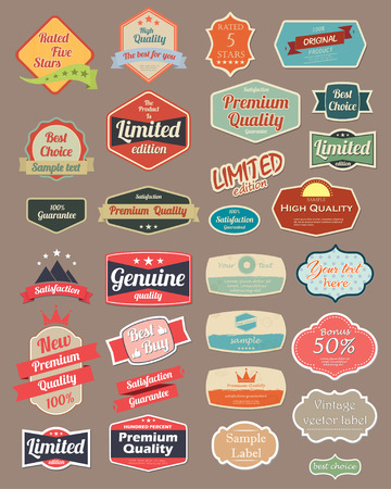 vintage badge: Retro design label set 4