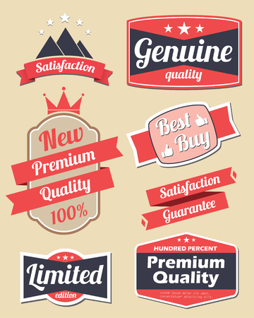 Retro design label set 3