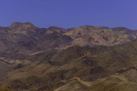 Pastel colors of Death Valley mountains photo