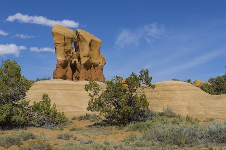 the devils garden: Colorful rock formations of the Devils Garden in Escalante Grand Staircase National Monument Utah Stock Photo