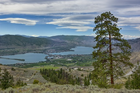 anarchist: View of Osoyoos from Anarchist Mountain Okanagan Valley British Columbia Canada