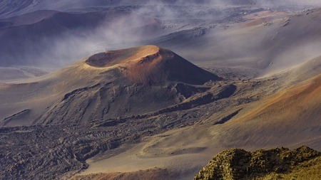 Cinder Cone in Haleakala Crater In Haleakala National Park Maui Hawaii USA in the morning