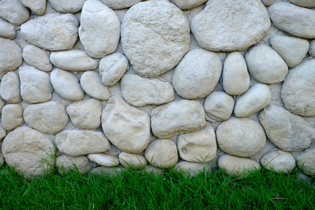 geen: nature stone wall and geen field