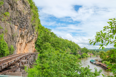 The Death Railway or The Thailand-Burma railway on World War II is the railways was built through the cliff beside the mountain