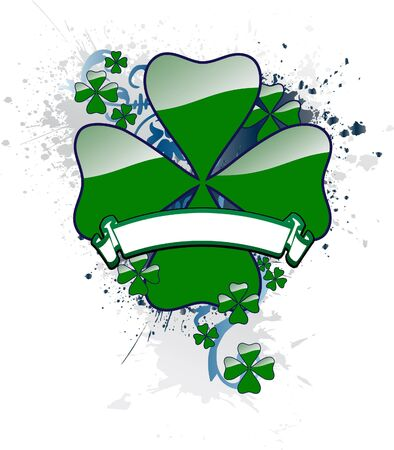 St. Patrick's Day Clover with a Banner for text Stock Photo - 792260