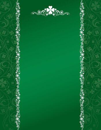 four fourleaf: Elegante St Patrick's Day verde shamrock design  Archivio Fotografico