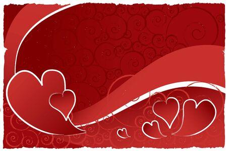 valentine background with deep reds