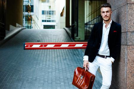stylish: Handsome stylish man
