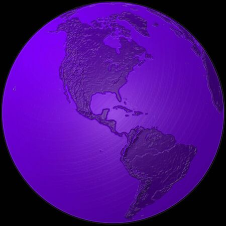world - plasticized blue globe - America